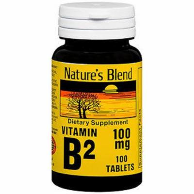 Nature's Blend Vitamin B2 100 mg - 100 Tablets