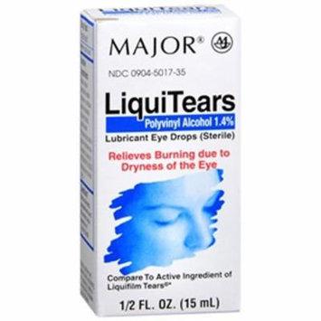 LiquiTears Lubricant Eye Drops by Major - (15ml) 0.5 oz