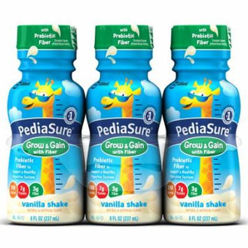 PediaSure Nutrition Drink with Fiber, Vanilla Shake, 8 fl oz