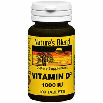 Nature's Blend Vitamin D3 1000 IU - 100 Tablets