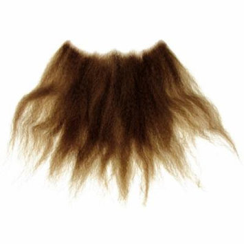 Loftus Men Real Human Hair Long Unkept Wizard Beard, Brown, One Size
