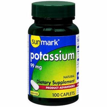 Sunmark Potassium, 99 mg Caplets, Natural - 100 caplets