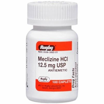 Rugby Meclizine HCl 12.5 mg - 100 Caplets