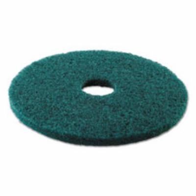 Standard 17-Inch Diameter Heavy-Duty Scrubbing Floor Pads, Green