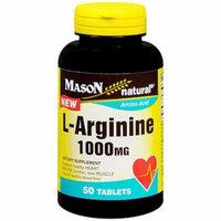 Mason Natural L-Arginine 1000 mg - 50 Tablets