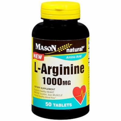 Mason Natural L-Arginine 1000 mg - 50 Tablets