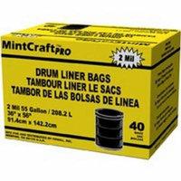 Drum Liner, Black 55 Gal