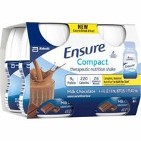 Ensure Compact Milk Chocolate Therapeutic Nutrition Shakes, 4 fl oz, 4 count, (Pack of 4)