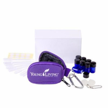 Young Living Essential Oil Key Chain Kit - With 8 5/8 Dram (2 ml) Vials, 1 Orifice Reducer Removal Tool, 8 Pipettes & 8 Blank Lid Stickers (Purple)
