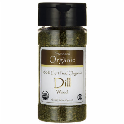 Swanson 100% Certified Organic Dill Weed 0.6 oz (17 grams) Flakes