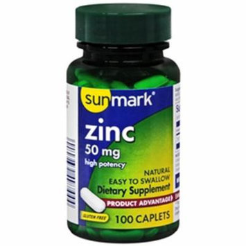 Sunmark Zinc Caplets - 50 MG - 100 ct