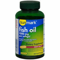 Sunmark Fish Oil 1000 mg- 60 Softgels