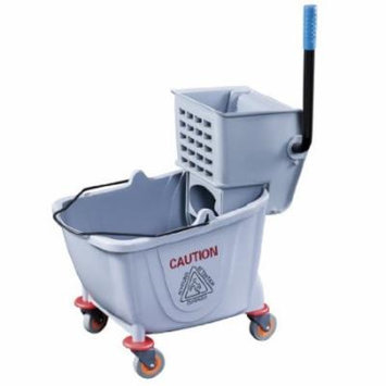 New Star Foodservice 54712 Commercial Mop Bucket and Wringer, 36-Quart, Grey