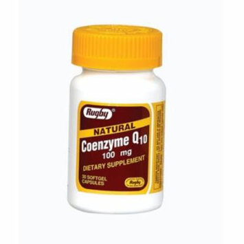 Rugby Labs CoEnzyme Q10 100mg - 30 Softgels