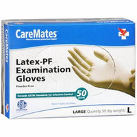 CareMates Latex-PF Examination Gloves Large - 50 ct