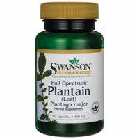 Swanson Full Spectrum Plantain (Leaf) Plantago M 400 mg 60 Caps