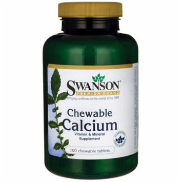 Swanson Chewable Calcium 500 mg 100 Chwbls