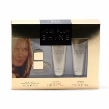 SHINE LADIES by HEIDI KLUM- 1 OZ SP/2.5 OZ BL/ 2.5 OZ SG SET