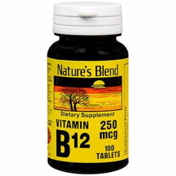 Nature's Blend Vitamin B12 250 mcg Tablets - 100 ct