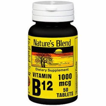 Nature's Blend Vitamin B12 1000 mcg Tablets - 50 ct
