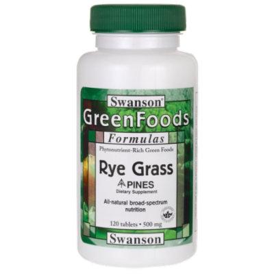 Swanson Rye Grass 500 mg 120 Tabs