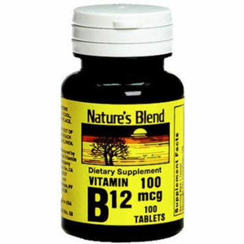 Nature's Blend Vitamin B12 100 mcg Tablets - 100 ct