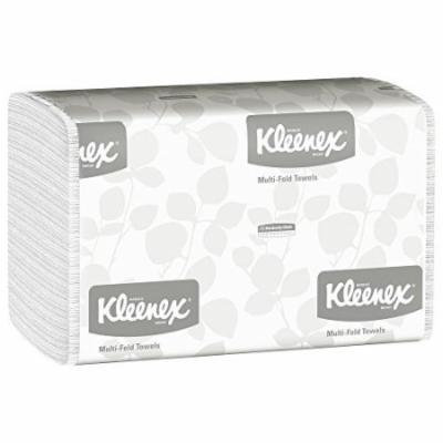 Kleenex Multifold Paper Towels (01890) White 16 Packs / Case 150 Tri Fold Paper Towels / Pack 2400 Towels / Case