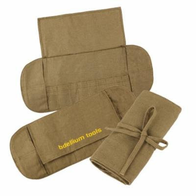 Bdellium Tools Professional Makeup Eco-friendly Linen Bambu Roll-up Pouch (20 pockets) (Bushes Not Included)