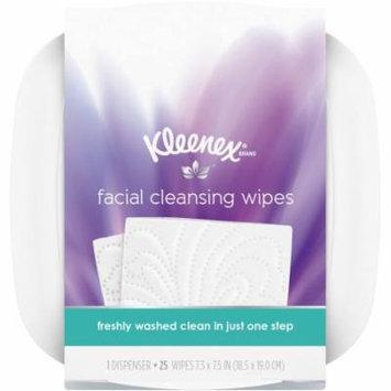 Kleenex Moist Facial Cleansing Wipes, Refillable Dispenser & Wipes