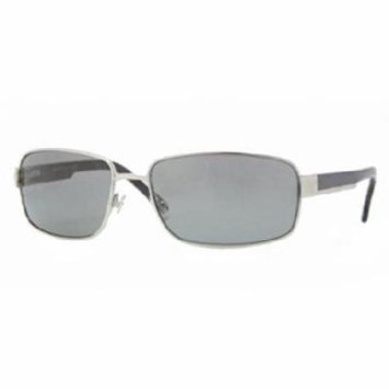 Brooks Brothers BB4004S Sunglasses (155987) Silver Grey Solid, 63 mm