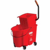 Rubbermaid Commercial Red WaveBrake Side-Press Wringer/Bucket Combo, 8.75 Gal