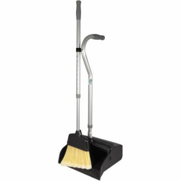Unger Metal Telescopic Ergo Dust Pan with Broom, Black/Silver