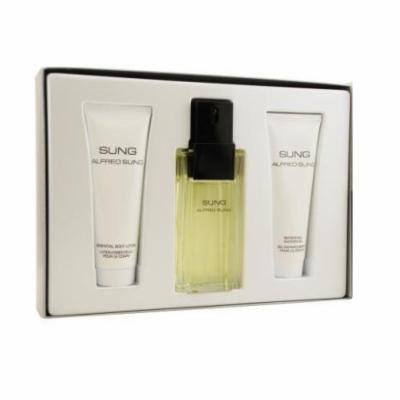 SUNG Alfred Sung 3.4 oz EDT Spray Women Perfume+ 2.5 (75ml) lotion+ gel SET NIB