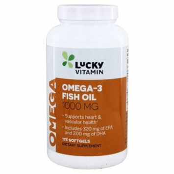 LuckyVitamin - Omega-3 Fish Oil 1000 mg. - 175 Softgels