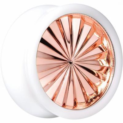 20mm White Acrylic Pink Flashy Tire Rim Saddle Plug (1 Piece)
