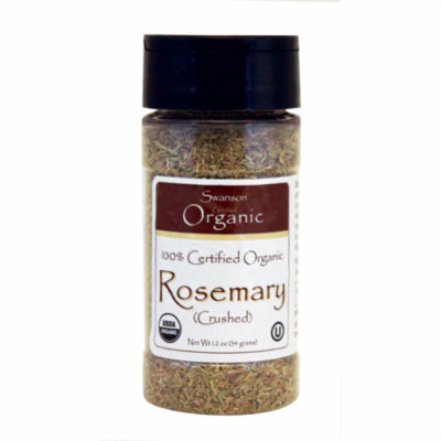 Swanson 100% Certified Organic Rosemary (Crushed 1.2 oz (34 grams) Flakes