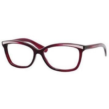 Bottega Veneta Eyeglasses 173 0PKN 00 in Crystal Dark Burgundy