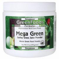 Swanson Mega Green (Barley Grass Powder) 5.3 oz (150 grams) Pwdr