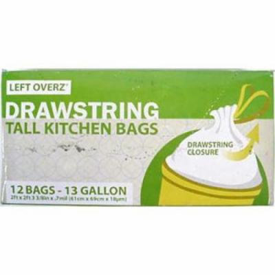 Ddi 13 Gallon Tall Kitchen Drawstring Garbage Bags (pack Of 48)