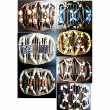 Ddi Wholesale Wood Beaded Hair Combs Hair Clips (pack Of 48)