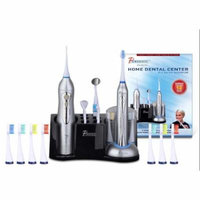 Pursonic Deluxe Home Dental Center Rechargeable Electric Toothbrush with 12 Brush heads