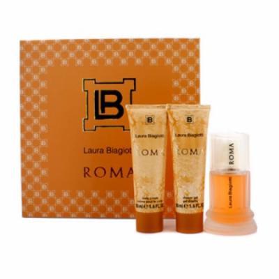 Laura Biagiotti Roma Coffret: Eau De Toilette Spray 50ml/1.6oz + Body Cream 50ml/1.6oz + Shower Gel 50ml/1.6oz For Women