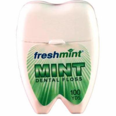 Freshmint 100 Yard Mint Waxed Dental Floss (pack Of 72)