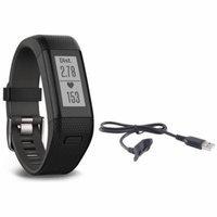 Garmin Vivosmart HR+ Activity Tracker Bundle, Regular Fit with Charging Cable (Black)