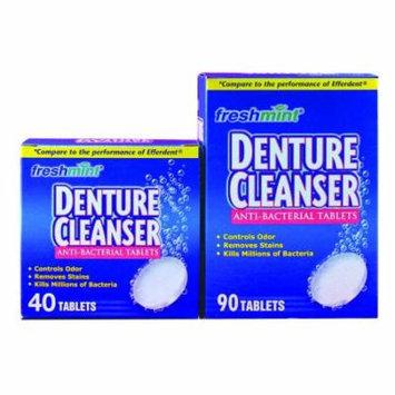 Freshmint Denture Cleanser Tablets, 90 Count, Mint