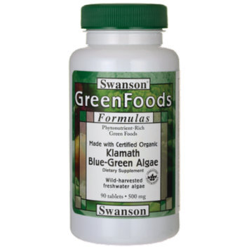 Swanson Made with Certified Organic Klamath Blue 500 mg 90 Tabs