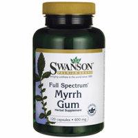 Swanson Full-Spectrum Myrrh Gum 600 mg 120 Caps