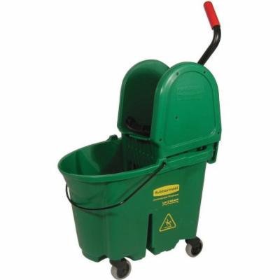 Rubbermaid Commercial Green WaveBrake Bucket/Wringer Combo, 35 qt