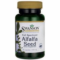 Swanson Full Spectrum Alfalfa Seed 400 mg 60 Caps