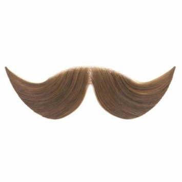 Loftus Men Real Human Hair Dapper Moustache, Brown, One Size
